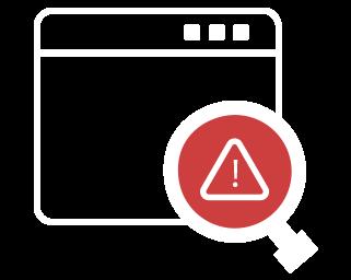 robot error search icon