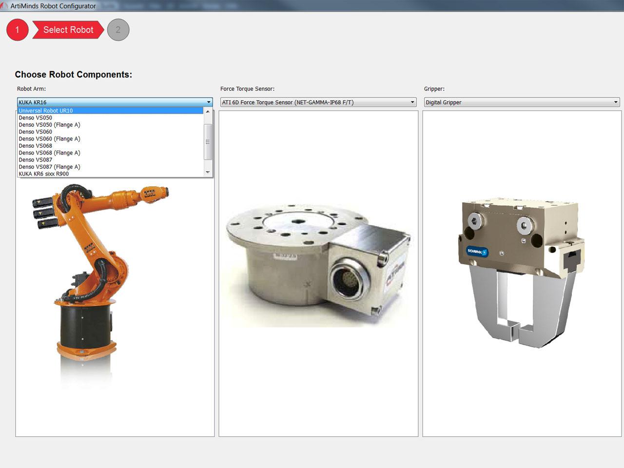 ArtiMinds RPS robot configurator Kuka
