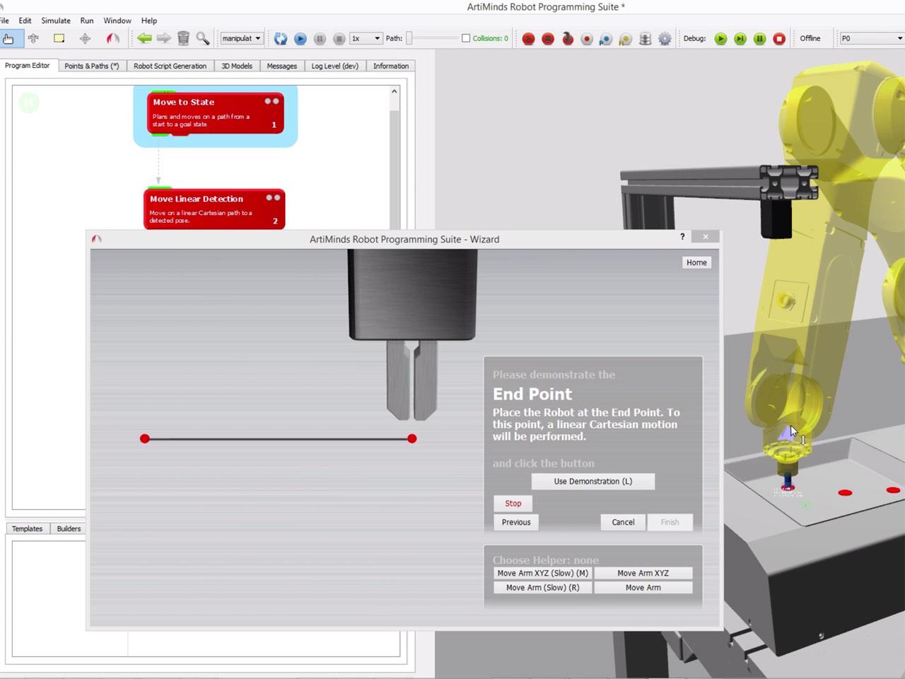 ArtiMinds Robotics - Intuitive programming via drag & drop and wizards