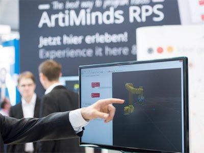 ArtiMinds RPS Simulation Messe