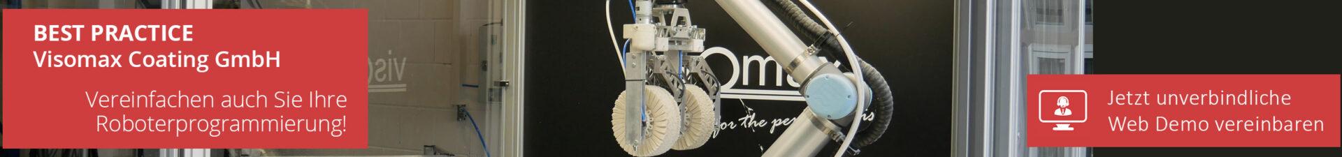 Einfache Roboterprogrammierung Visomax ArtiMinds