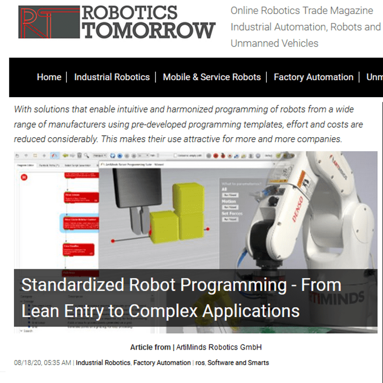 Standardized robot programming