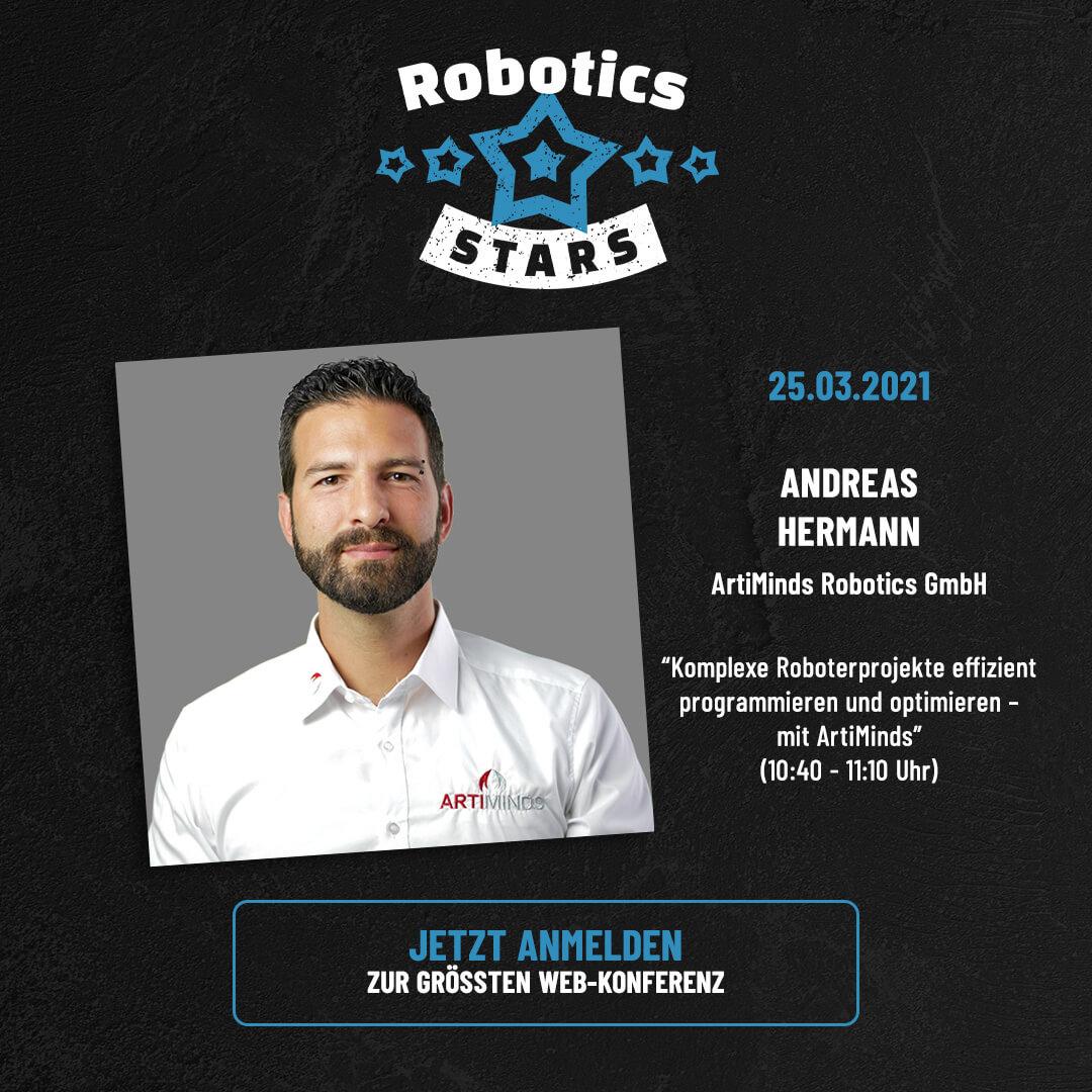 ArtiMinds Robotics - Vortrag bei den Robotics Stars - komplexe Roboterapplikationen