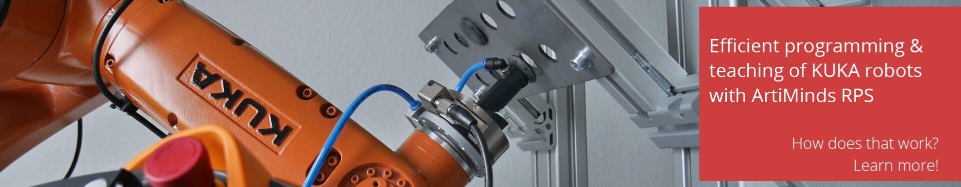 Kuka robot programming and teaching with ArtiMinds